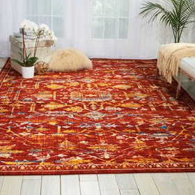 Moroccan Paprika Area Rug
