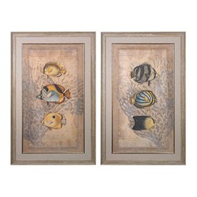 'Ocean Trilogy' 2 Piece Framed Graphic Art Set