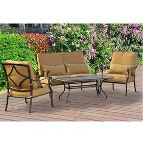 Canyon 4 Piece Deep Seating Group with Cushions