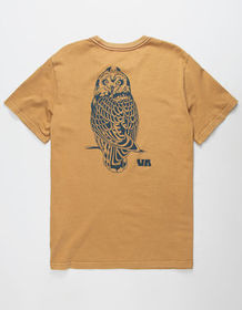 RVCA Pueo Antique Bronze Mens T-Shirt_