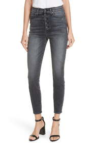 Alice + Olivia Jeans Good Exposed Button Skinny Je