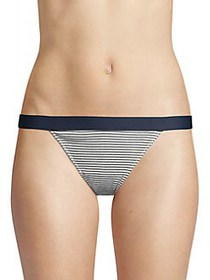 French Connection Striped Ribbed Bikini BLUE STRIP