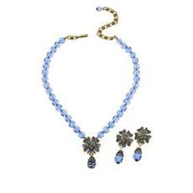 """Heidi Daus """"Pretty Posey"""" Beaded Necklace and Earr"""