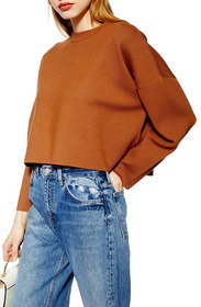 Topshop Bonded Boxy Crop Sweater
