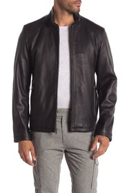 Cole Haan Washed Leather Jacket