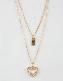FULL TILT Heart & Love Layered Necklace_