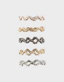 FULL TILT 5 Pack Textured Rings_
