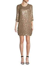 Parker Petra Sequined Dress SAND