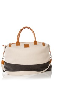 Brouk & Co The Weekend Canvas & Faux Leather Bag