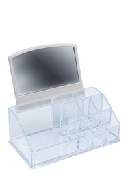 Sorbus Makeup Organizer with Mirror - Clear
