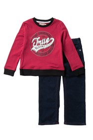 True Religion Branded Pullover & Jeans Set (Toddle