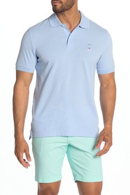 Brooks Brothers Short Sleeve Knit Slim Fit Polo