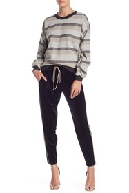 BCBGeneration Solid Piped Velour Drawstring Pants