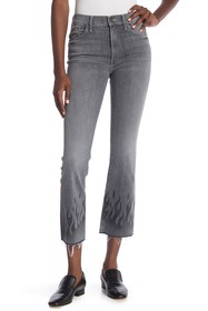 MOTHER The Insider Straight Frayed Ankle Jeans