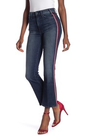 MOTHER The Hustler Striped Bootcut Jeans