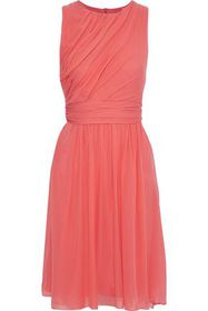 MAX MARA Penny gathered silk-chiffon dress