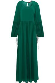 MAX MARA Novara gathered silk-georgette maxi dress