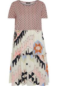 MAX MARA Redy gathered printed cotton-poplin and j