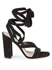 Gianvito Rossi Janis Strappy Suede Heeled Sandals