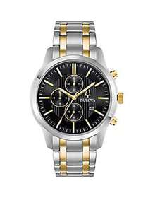 Bulova Classic Two-Tone Stainless Steel Chronograp