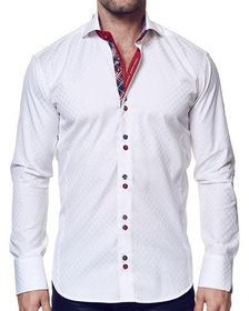 Maceoo Shaped-Fit Panam Long-Sleeve Sport Shirt Wh