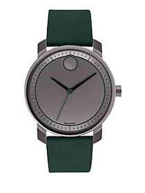Movado BOLD Green Leather Strap Watch GREEN