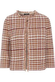 WEEKEND MAX MARA Tilly fringe-trimmed cotton and l