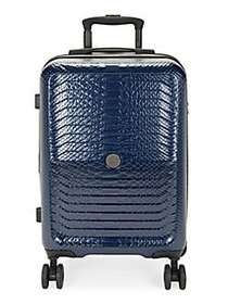 Roberto Cavalli Python Skin Carry-On Luggage NAVY