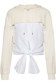 3.1 PHILLIP LIM Tie-front cotton-poplin and French