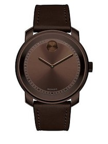 Movado BOLD Steel Strap Watch BROWN