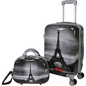World Traveler Destination 2 Piece Carry-on Hardsi