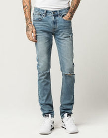 RSQ London Mens Skinny Ripped Jeans_