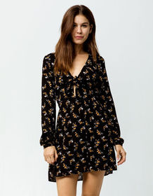 MIMI CHICA Floral Knot Front Dress_