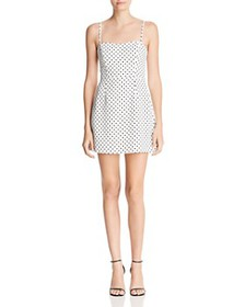 FRENCH CONNECTION - Sweetheart Polka-Dot Mini Dres