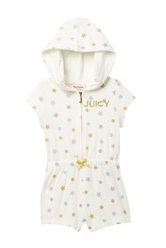 Juicy Couture Hooded Romper (Baby Girls)