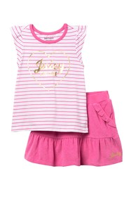 Juicy Couture Stripe Top & Skort 2-Piece Set (Litt