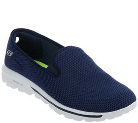 """As Is"" Skechers GOwalk Slip-on Mesh Sneakers - Da"
