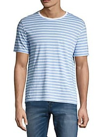 Black Brown 1826 Striped Crewneck T-Shirt CHIRON B