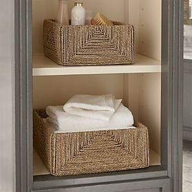Crate Barrel Seagrass Baskets