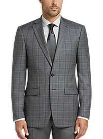 Calvin Klein Gray Plaid Slim Fit Sport Coat