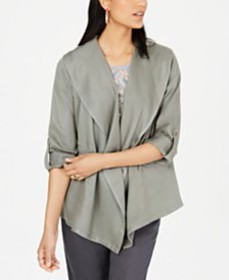 Style & Co Draped Open-Front Jacket, Created for M
