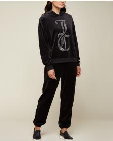 Juicy Couture Swarovski JC Velour Hooded Pullover