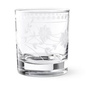 Vintage Etched Double Old-Fashioned Glasses, Set o