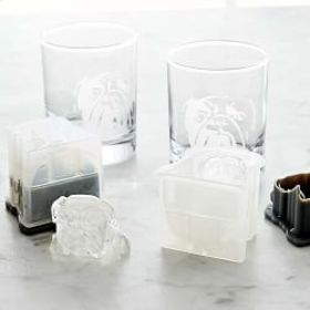 Bulldog Etched Glass & Ice Mold Set