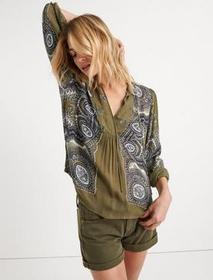 Lucky Brand Scarf Paisley Popover Peasant