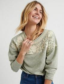 Lucky Brand Novelty Mint Pullover
