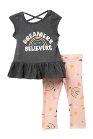Jessica Simpson Day Trippers Top & Leggings Set (B