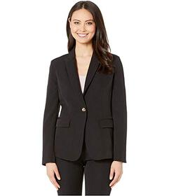 Tahari by ASL One-Button Flap Pocket Jacket