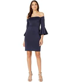 Betsey Johnson Off the Shoulder Bell Sleeve Dress