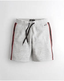 Hollister Classic Fleece Shorts, HEATHER GREY